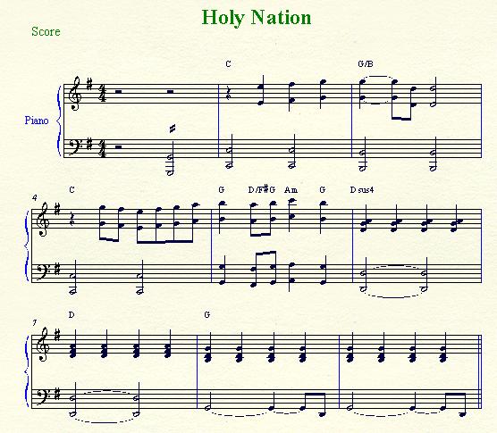 Holy Nation Lyrics, Chords, Music Sheet | Baptist Music